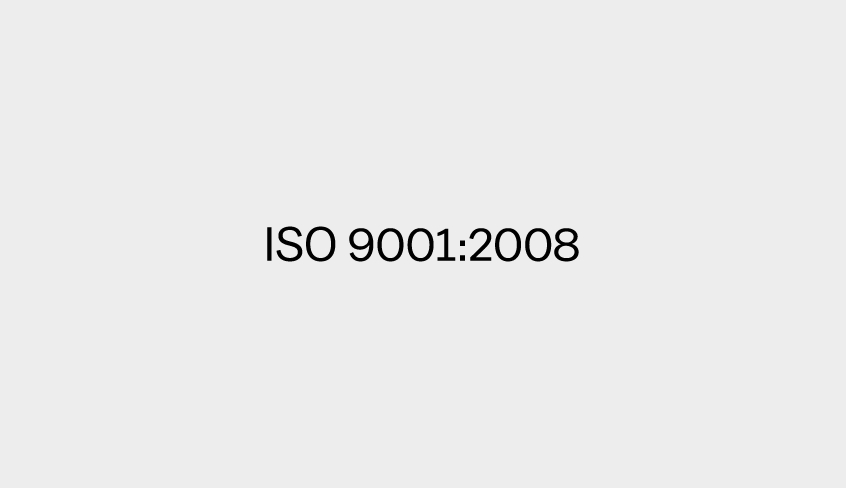 ISO 9001: 2008 audit completed successfully